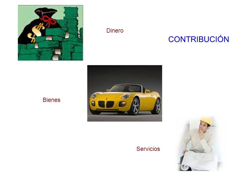 Dinero Bienes Servicios CONTRIBUCIÓN
