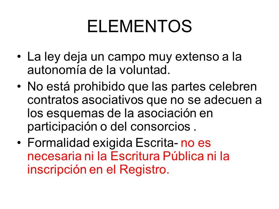 CARACTERÍSTICAS Arts.445 – 448- 438 LGS. Doctrina Contrato Asociativo Nominado y Típico.