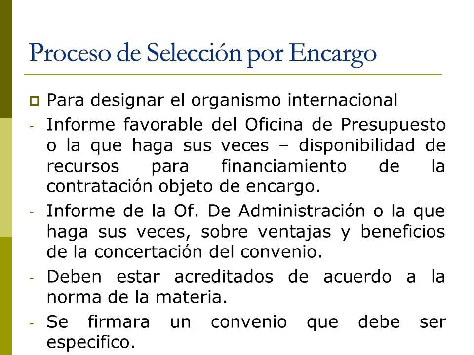 Para designar el organismo internacional - Informe favorable del Oficina de Presupuesto o la que haga sus veces – disponibilidad de recursos para fina