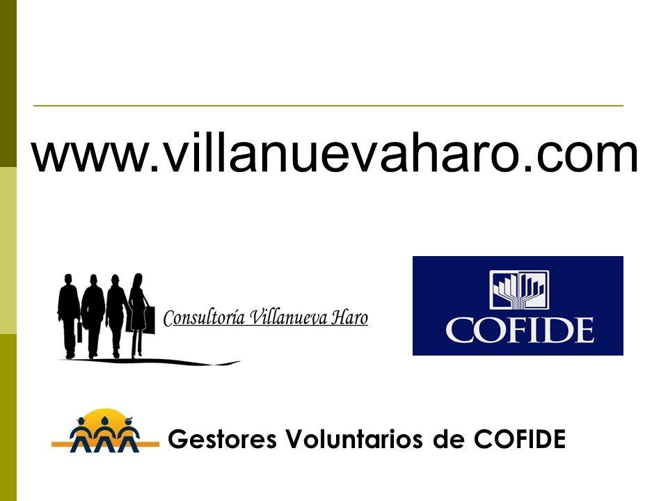 www.villanuevaharo.com Gestores Voluntarios de COFIDE