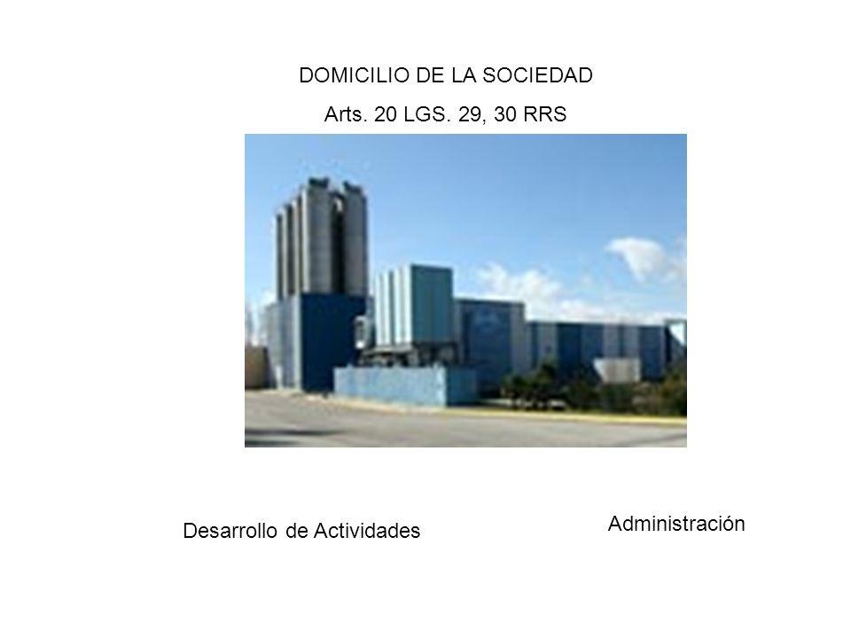 OBJETO SOCIAL Art.11LGS Art.26RRS Negocios y Operaciones lícitas Prohibición de los Actos Ultra Vires Art.38LGS.