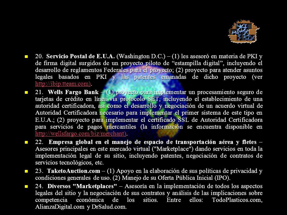 20. Servicio Postal de E.U.A.