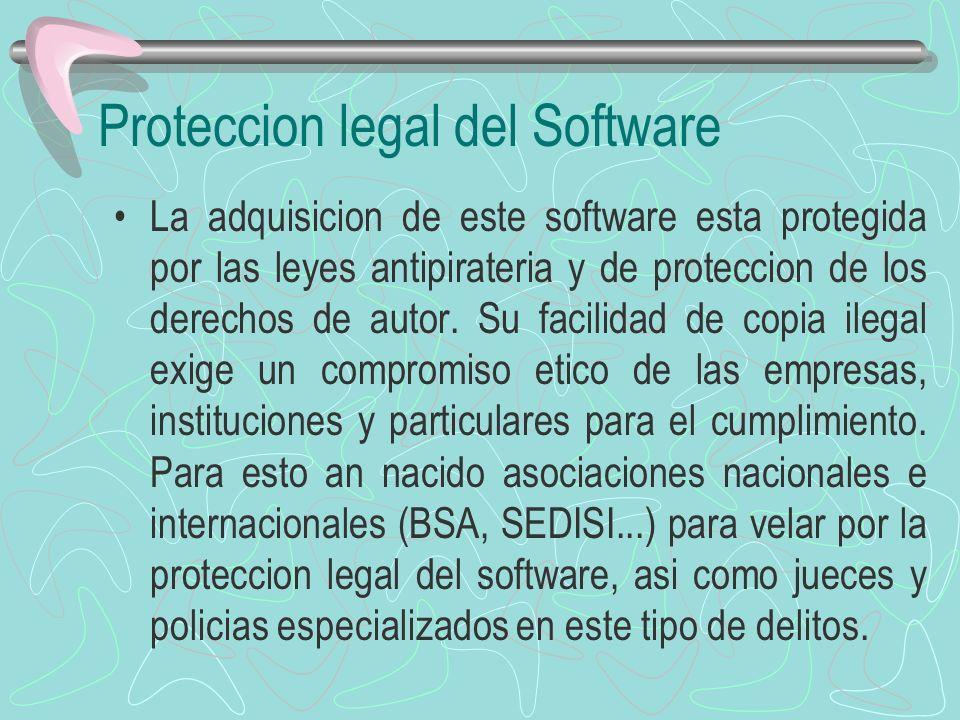 La adquisicion de este software esta protegida por las leyes antipirateria y de proteccion de los derechos de autor. Su facilidad de copia ilegal exig