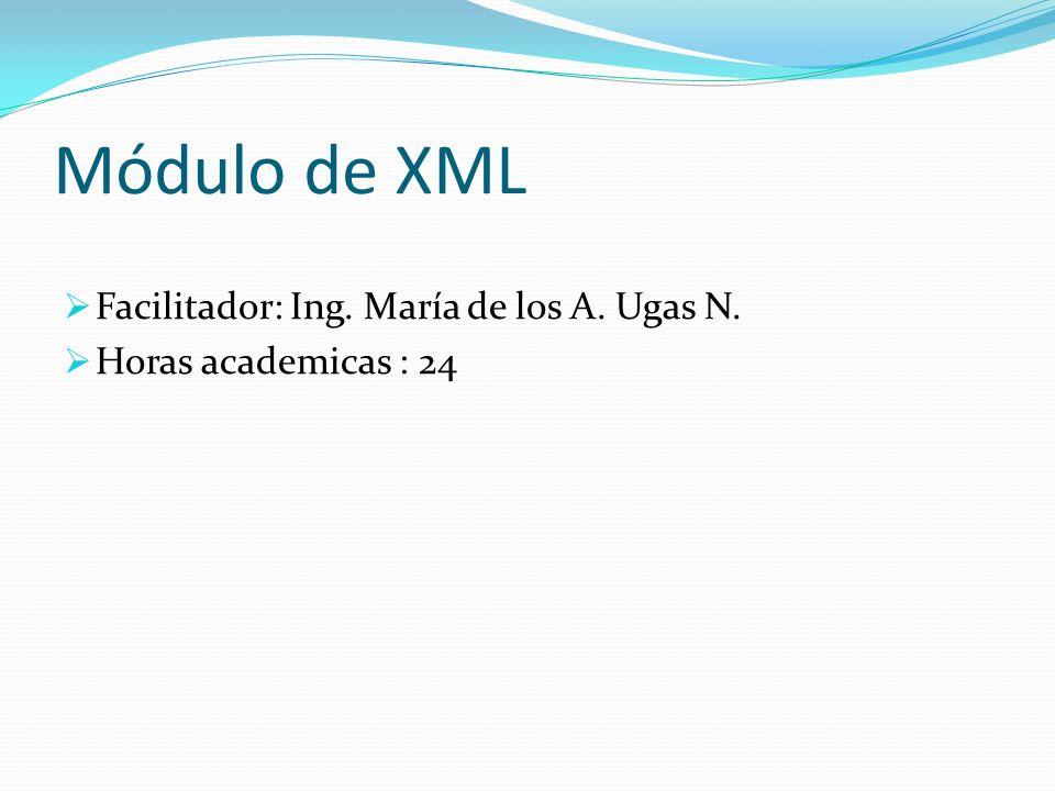 Contenido del Modulo de XML Definicion de tipo de documento Introducción Crear un DTD Interno.