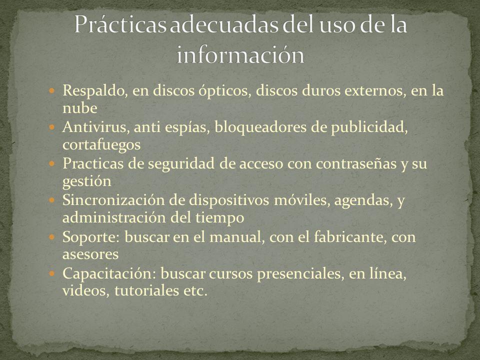 Portal: HSM inspiring ideas (management TV) http://mx.hsmglobal.com//interior/index.php?idCMS Idioma=1 Software: SAP business One (ERP), busines object (BI) Base de datos: Emerging Markets Information Service ESCO, PROQUEST, Esmerald, fuente académica Blog: Búsqueda administración de negocios http://www.google.com.mx/blogsearch?hl=es&tab=bb Fuentes RSS: perfil de google reader http://www.google.com/reader/shared/SalvadorBR