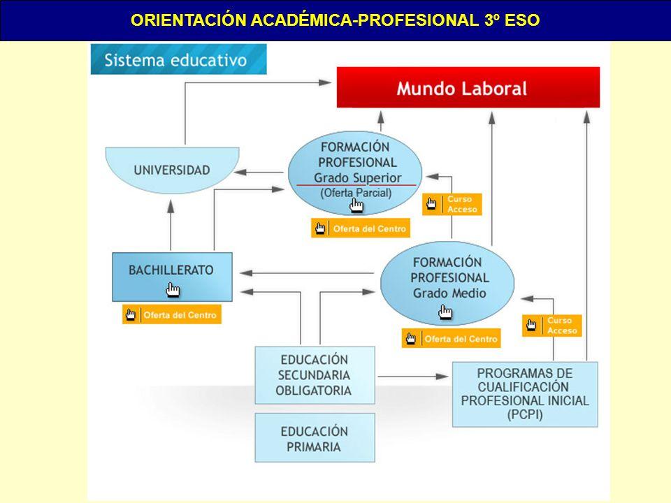 ORIENTACIÓN ACADÉMICA-PROFESIONAL 3º ESO