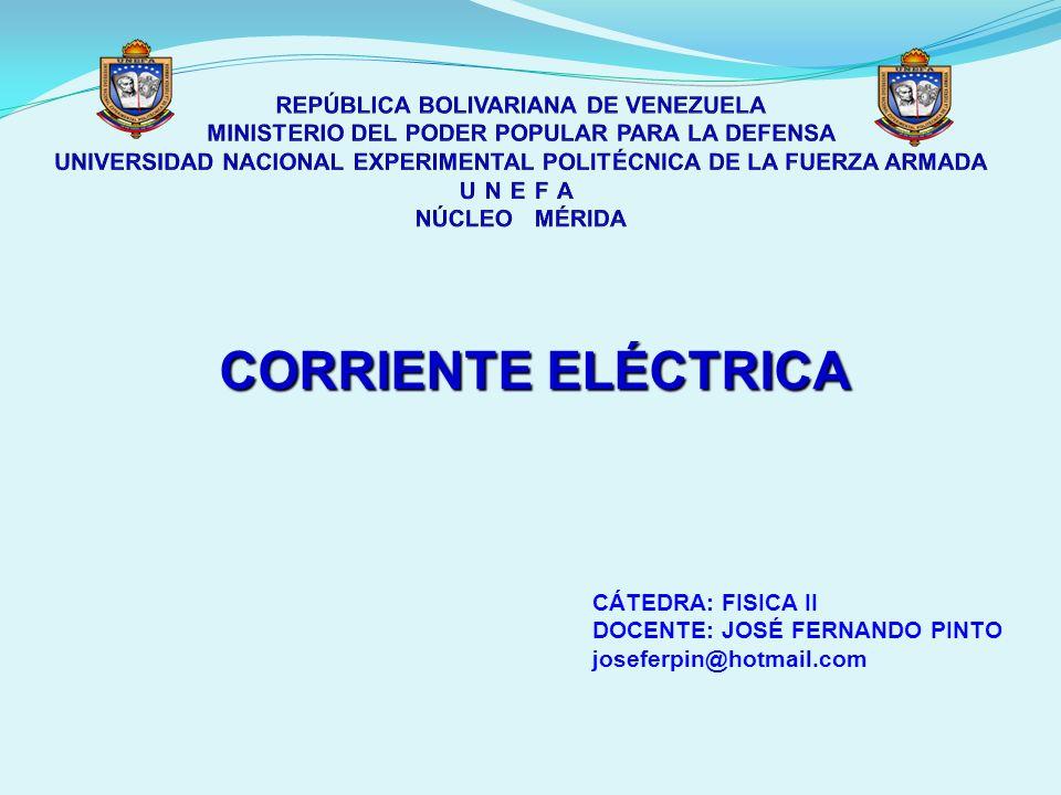 CORRIENTE ELÉCTRICA La corriente eléctrica se define como la circulación o movimiento ordenado de cargas, producido en el seno de un conductor a fin de igualar una diferencia de potencial existente en sus extremos.