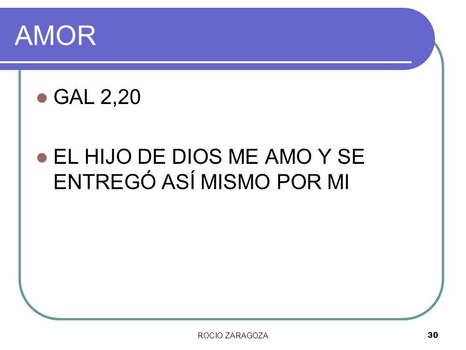 ROCIO ZARAGOZA30 AMOR GAL 2,20 EL HIJO DE DIOS ME AMO Y SE ENTREGÓ ASÍ MISMO POR MI