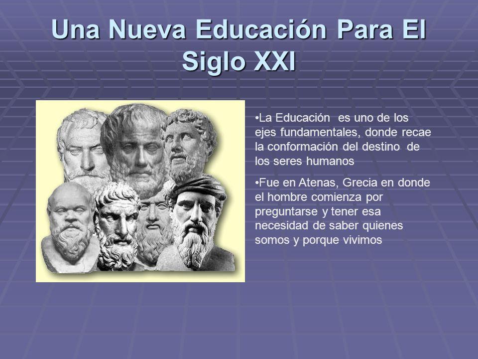 Una Nueva Educación Para El Siglo XXI La Educación es uno de los ejes fundamentales, donde recae la conformación del destino de los seres humanos Fue