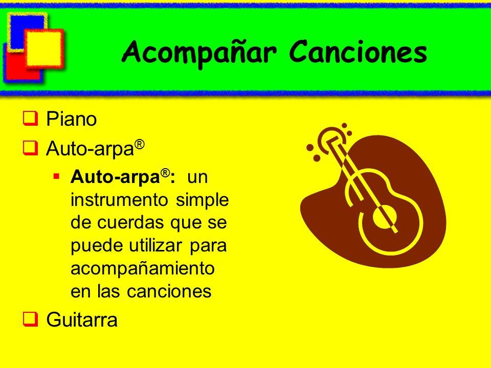 Acompañar Canciones Piano Auto-arpa ® Auto-arpa ® : un instrumento simple de cuerdas que se puede utilizar para acompañamiento en las canciones Guitar