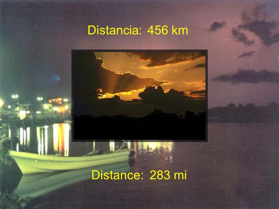 Distancia:456 km Distance:283 mi