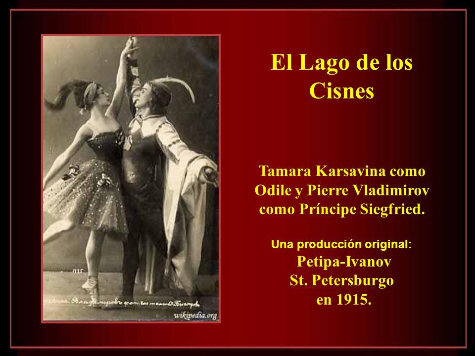 El Lago de los Cisnes Tamara Karsavina como Odile y Pierre Vladimirov como Príncipe Siegfried.