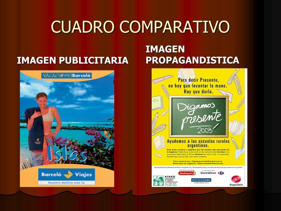 CUADRO COMPARATIVO IMAGEN PUBLICITARIA IMAGEN PROPAGANDISTICA