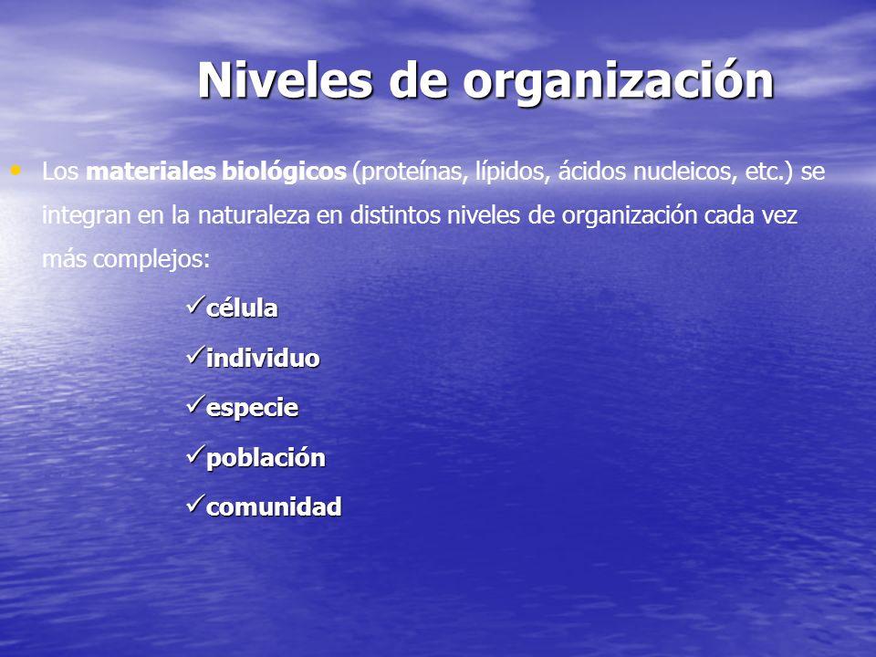 Niveles de organización en la naturaleza