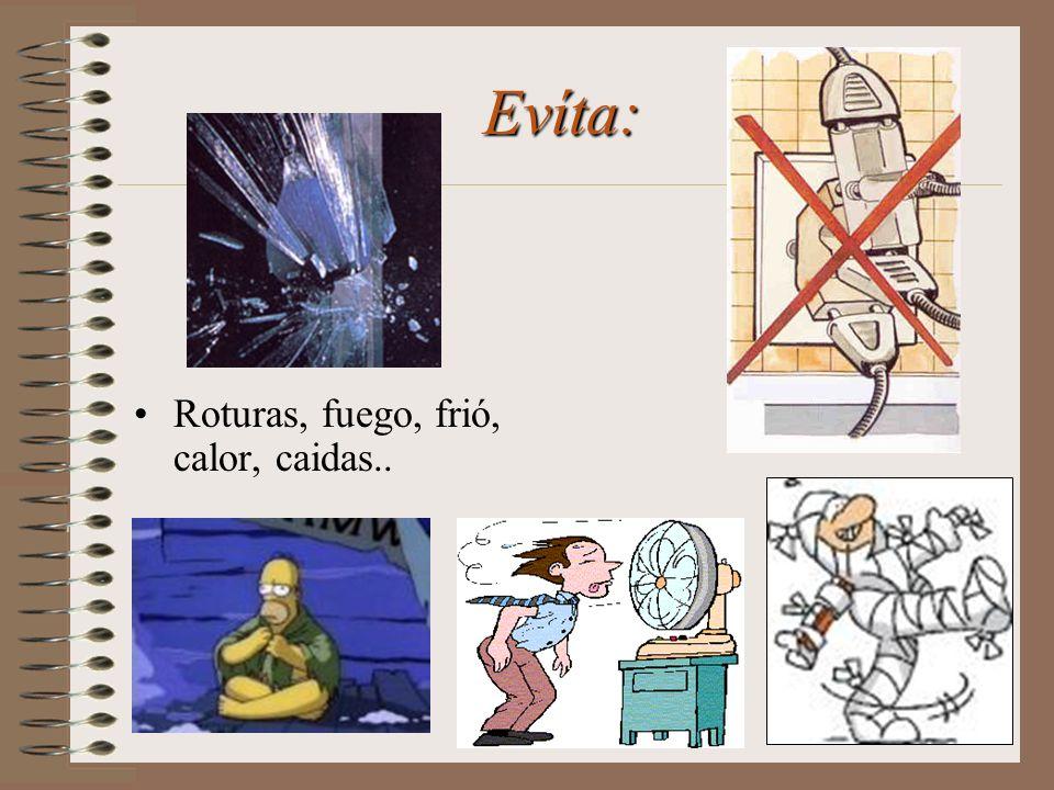 También son riesgos Físicos los derivados de: Electricidad Exceso de ruido Ventilación inadecuada Vibraciones Radiaciones Inadecuada Iluminación Temperaturas altas o bajas