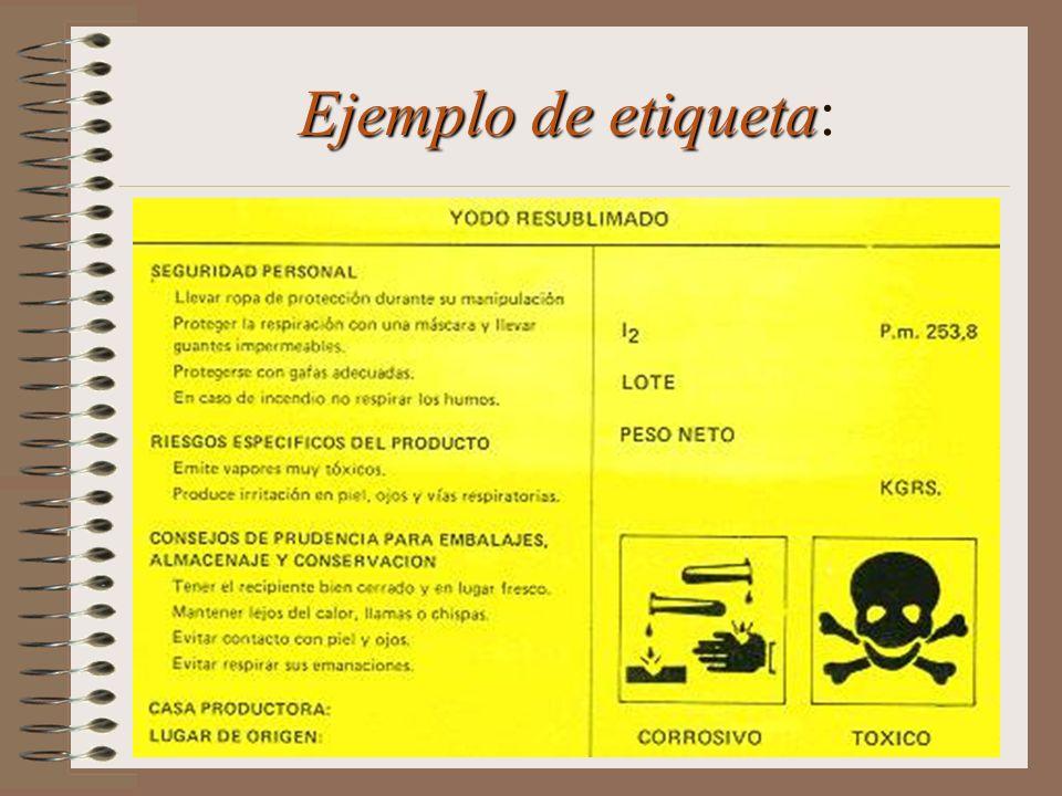 Conoce las características de peligrosidad de los productos químicos con que trabajamos.