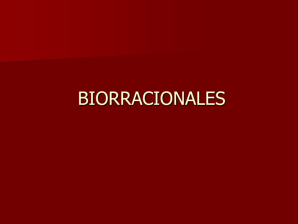 BIORRACIONALES