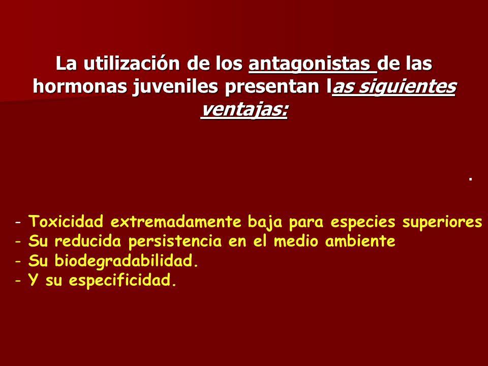 - Toxicidad extremadamente baja para especies superiores - Su reducida persistencia en el medio ambiente - Su biodegradabilidad. - Y su especificidad.