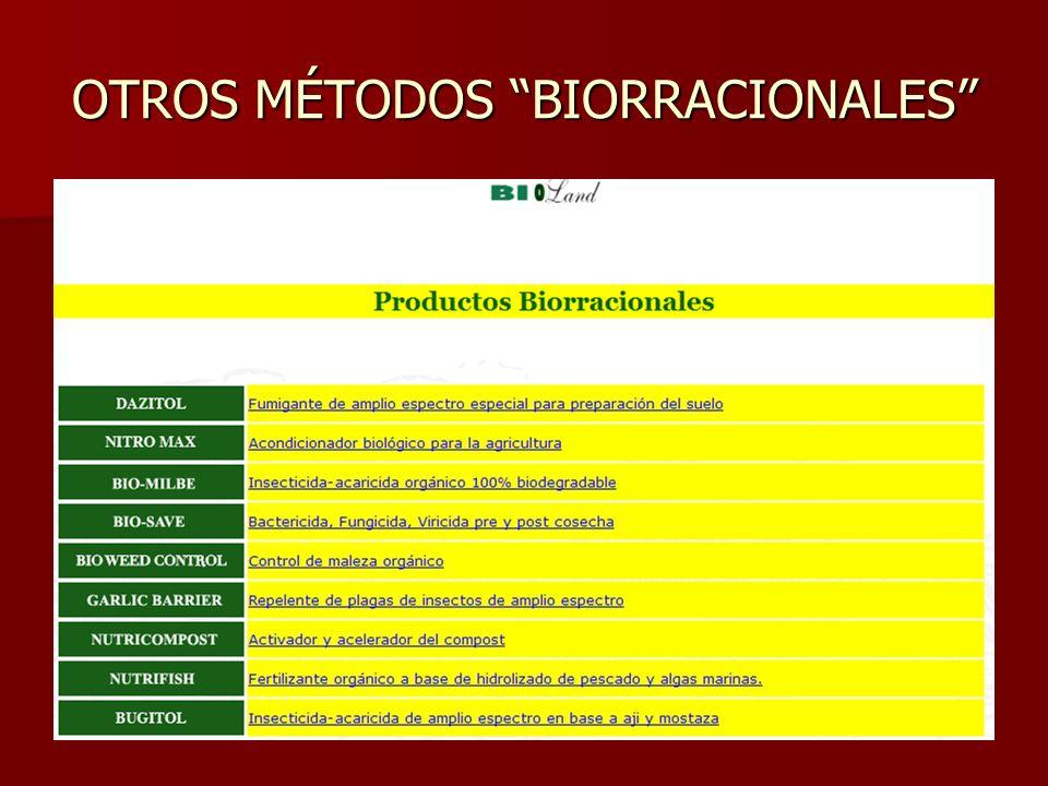 OTROS MÉTODOS BIORRACIONALES