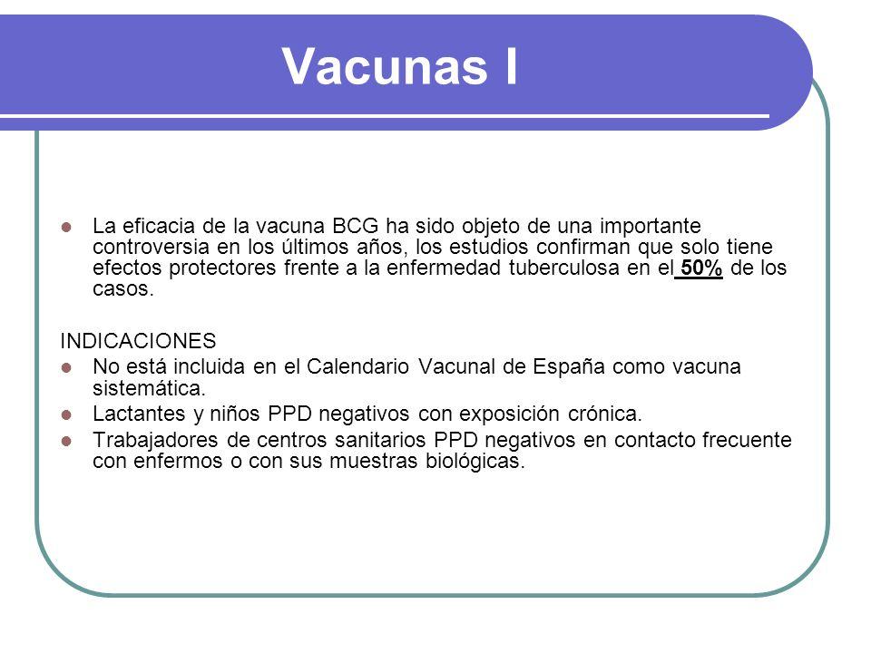 Vacunas I La eficacia de la vacuna BCG ha sido objeto de una importante controversia en los últimos años, los estudios confirman que solo tiene efecto