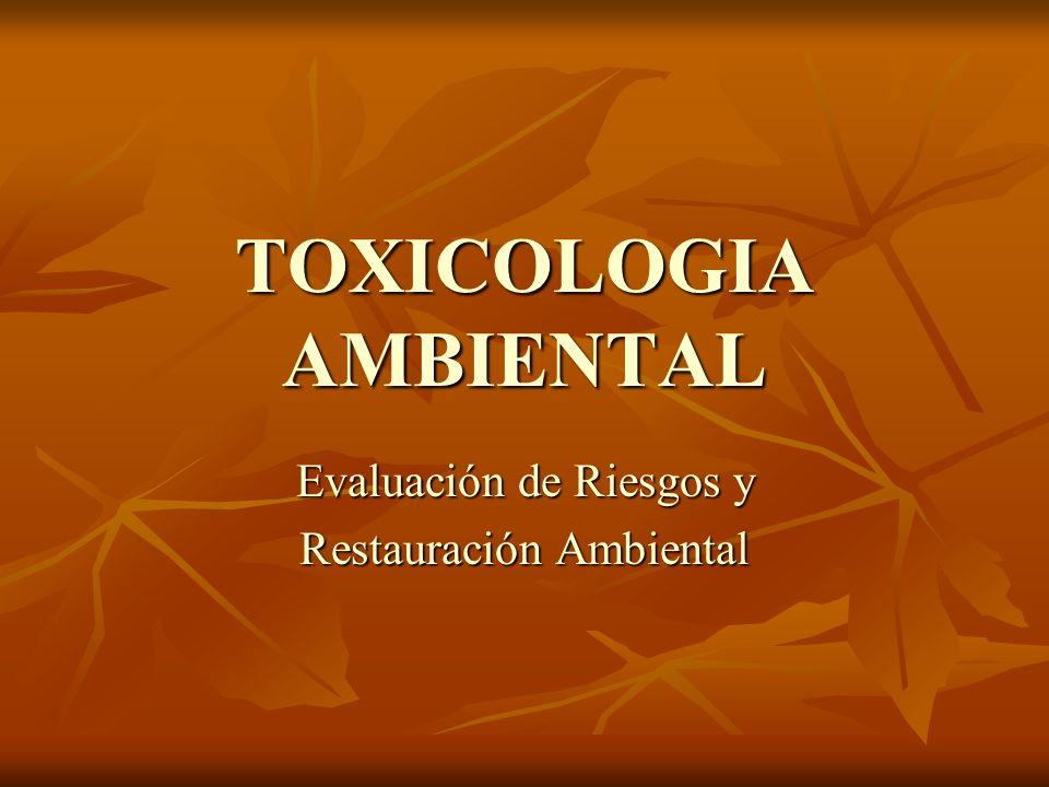 DEFINICIÓN La toxicología ambiental estudia los daños causados al organismo por la exposición a los tóxicos que se encuentran en el medio ambiente.
