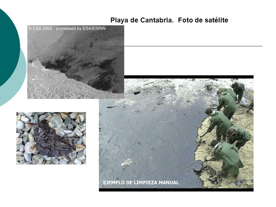Playa de Cantabria. Foto de satélite