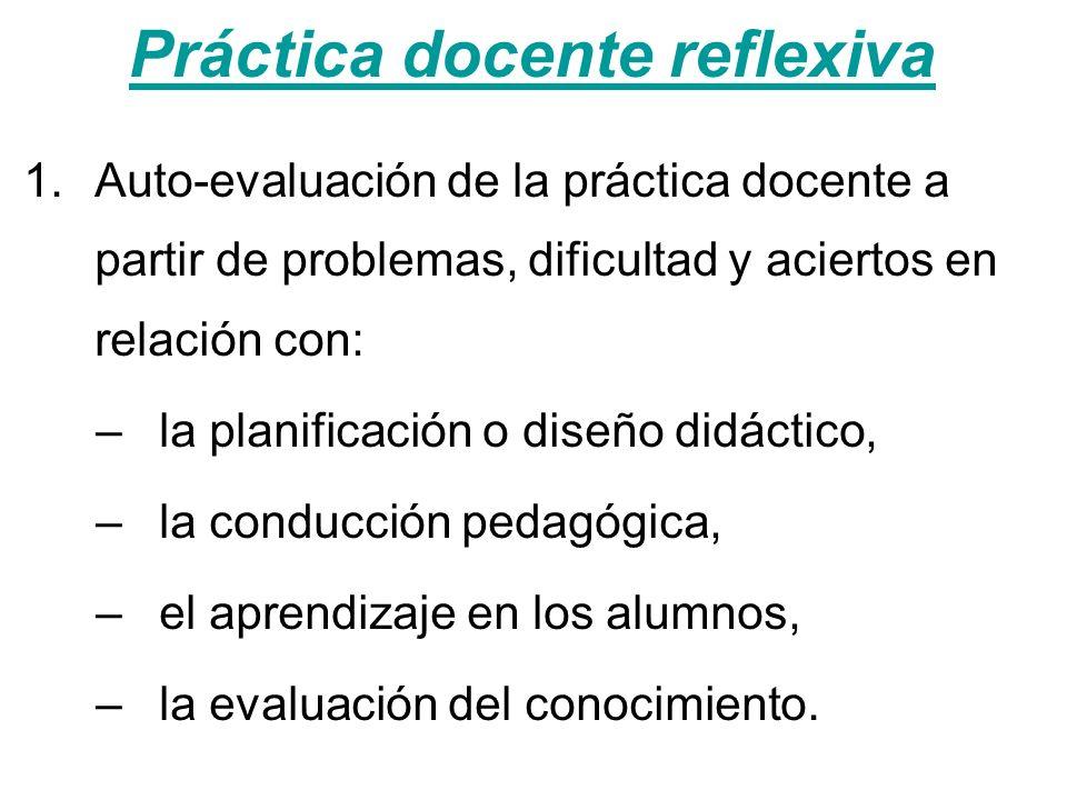 Práctica docente reflexiva