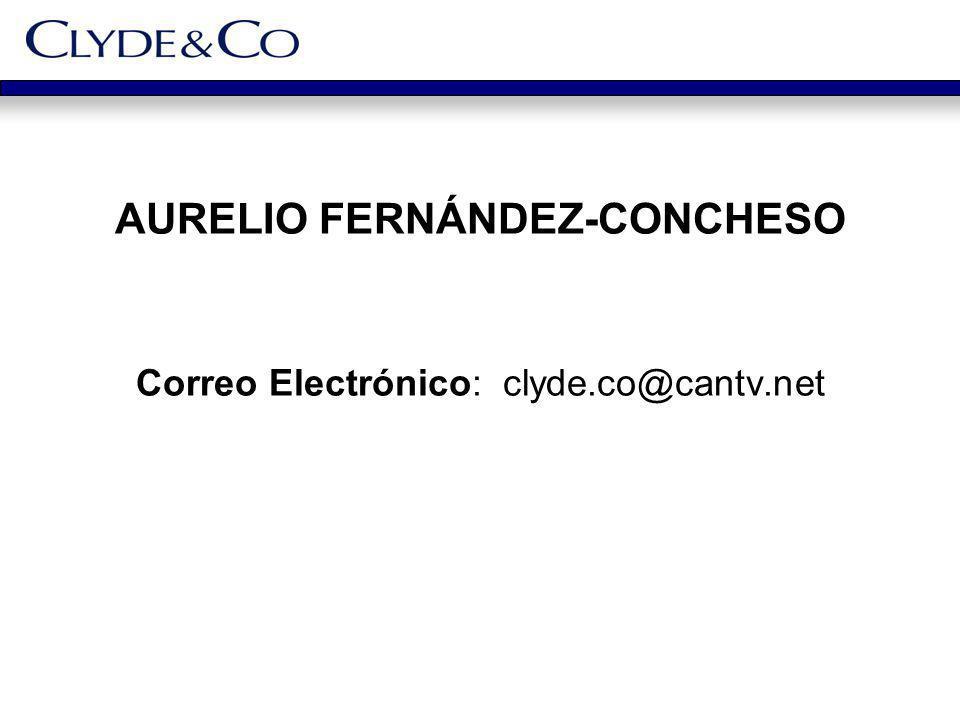 AURELIO FERNÁNDEZ-CONCHESO Correo Electrónico: clyde.co@cantv.net
