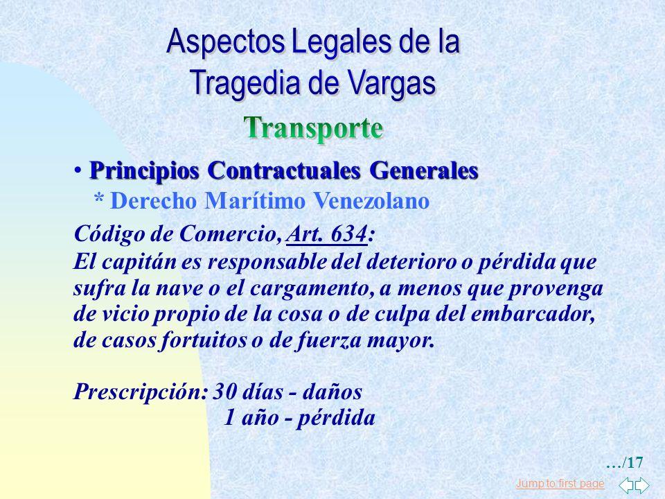 Jump to first page Principios Contractuales Generales Código Civil, Art. 1.272: El deudor no está obligado a pagar daños y perjuicios, cuando, a conse