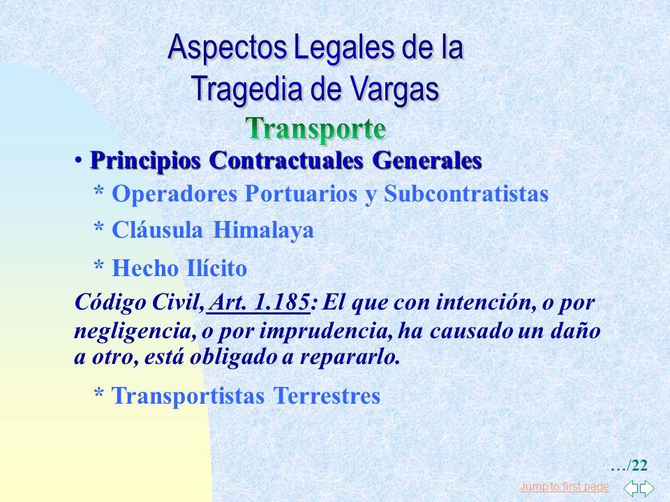 Jump to first page Principios Contractuales Generales * Conocimienos de Embarque - (Conline Bill): Desviación: Cláusula 5: Dado que el buque presta se