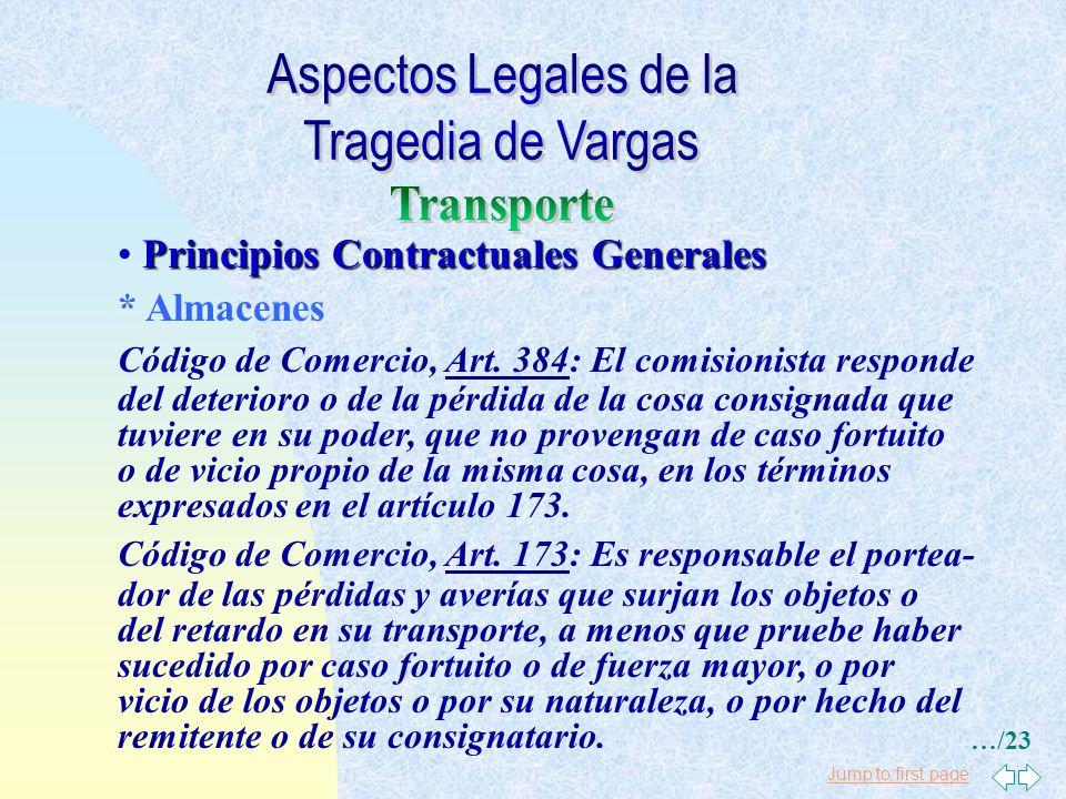 Jump to first page Principios Contractuales Generales * Operadores Portuarios y Subcontratistas * Cláusula Himalaya * Hecho Ilícito Código Civil, Art.