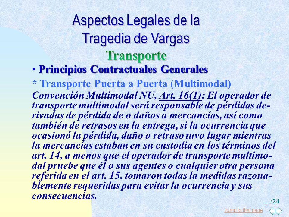 Jump to first page Principios Contractuales Generales * Almacenes Código de Comercio, Art. 384: El comisionista responde del deterioro o de la pérdida