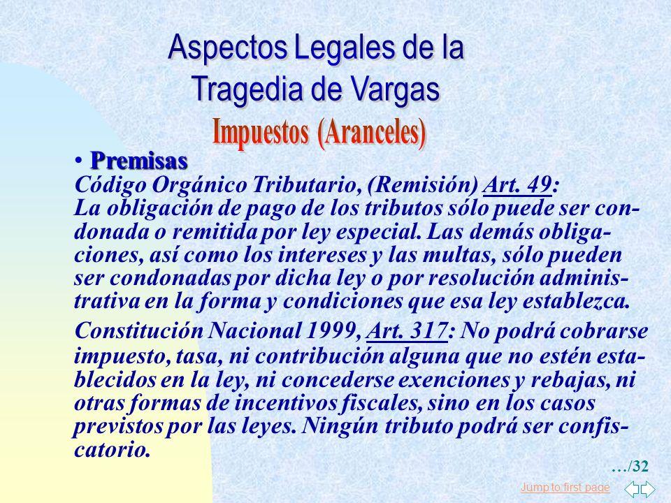 Jump to first page Premisas Ley de Aduanas, Art. 64: El abandono voluntario es la manifestación escrita e irrevocables formulada a la aduana por el co