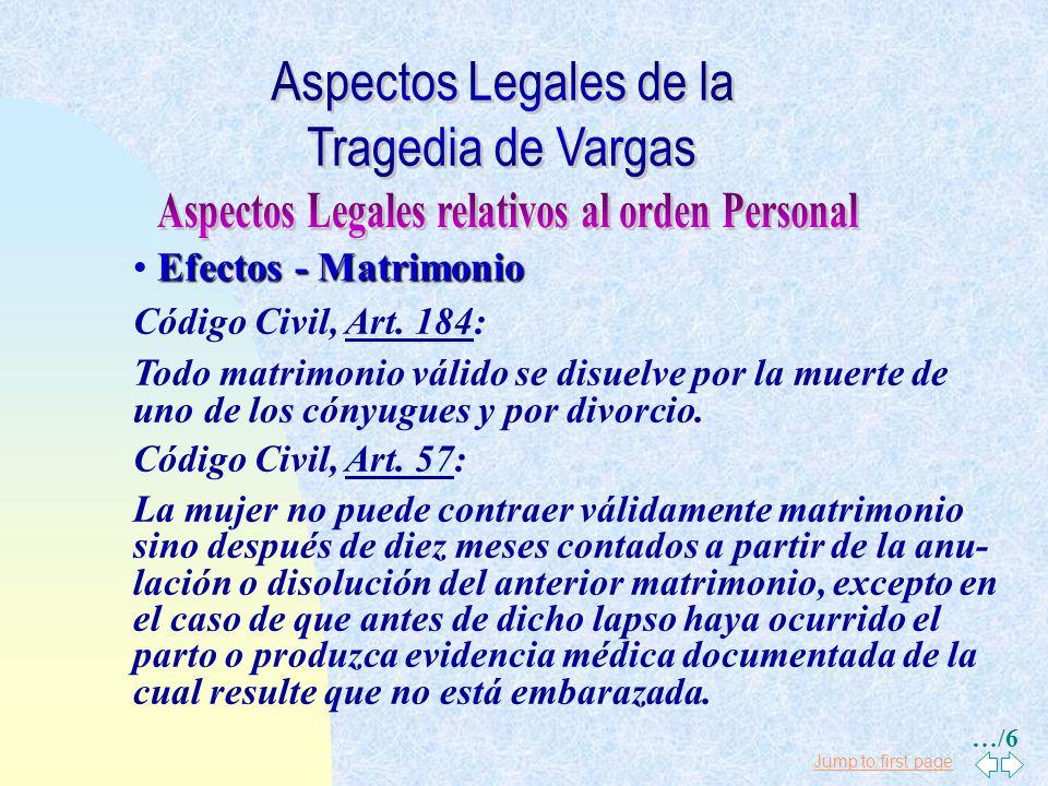 Jump to first page Efectos - Matrimonio Código Civil, Art.