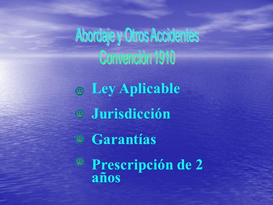 Ley Aplicable Jurisdicción Garantías Prescripción de 2 años