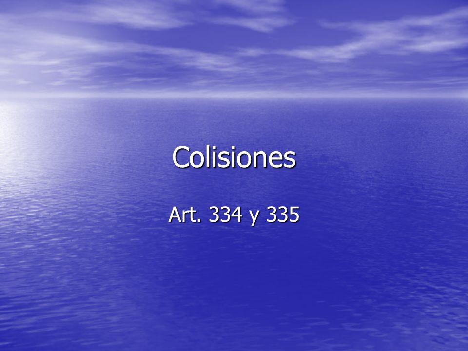 Colisiones Art. 334 y 335