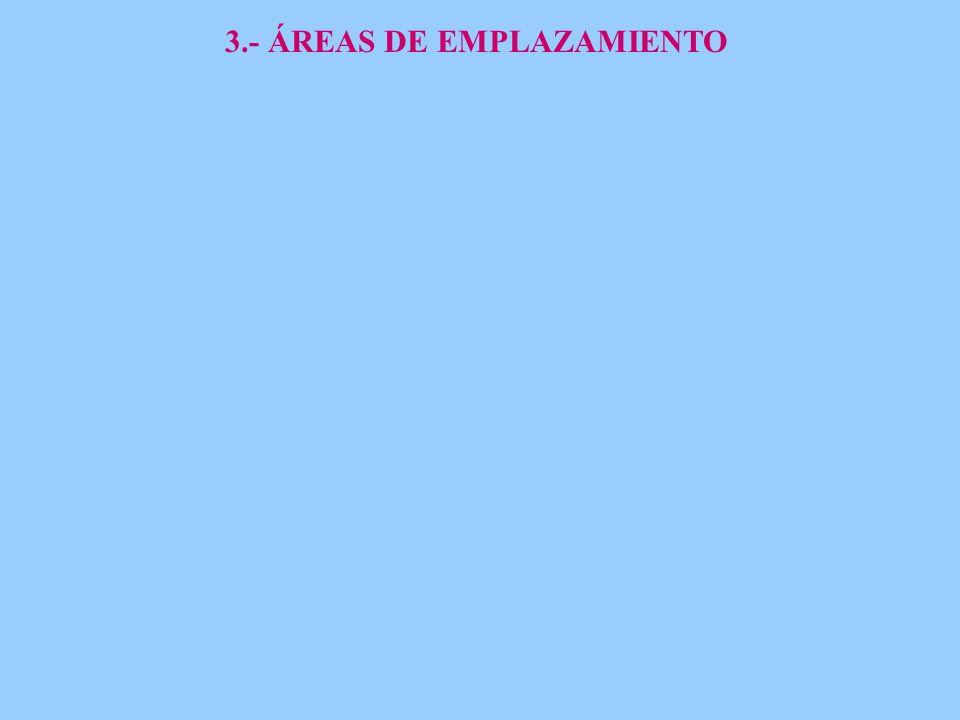 3.- ÁREAS DE EMPLAZAMIENTO
