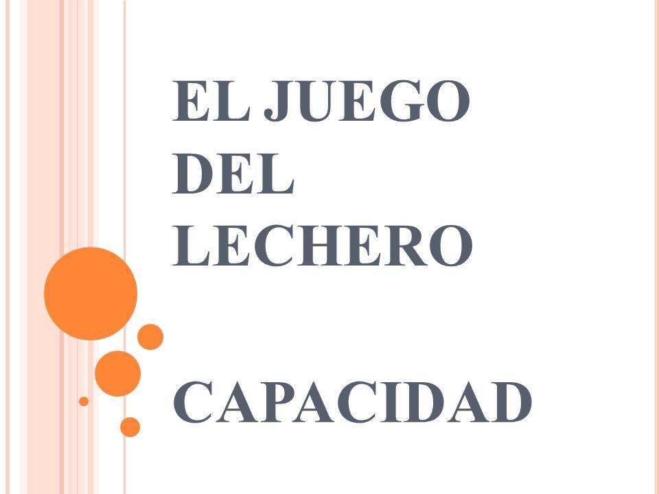 EL JUEGO DEL LECHERO CAPACIDAD