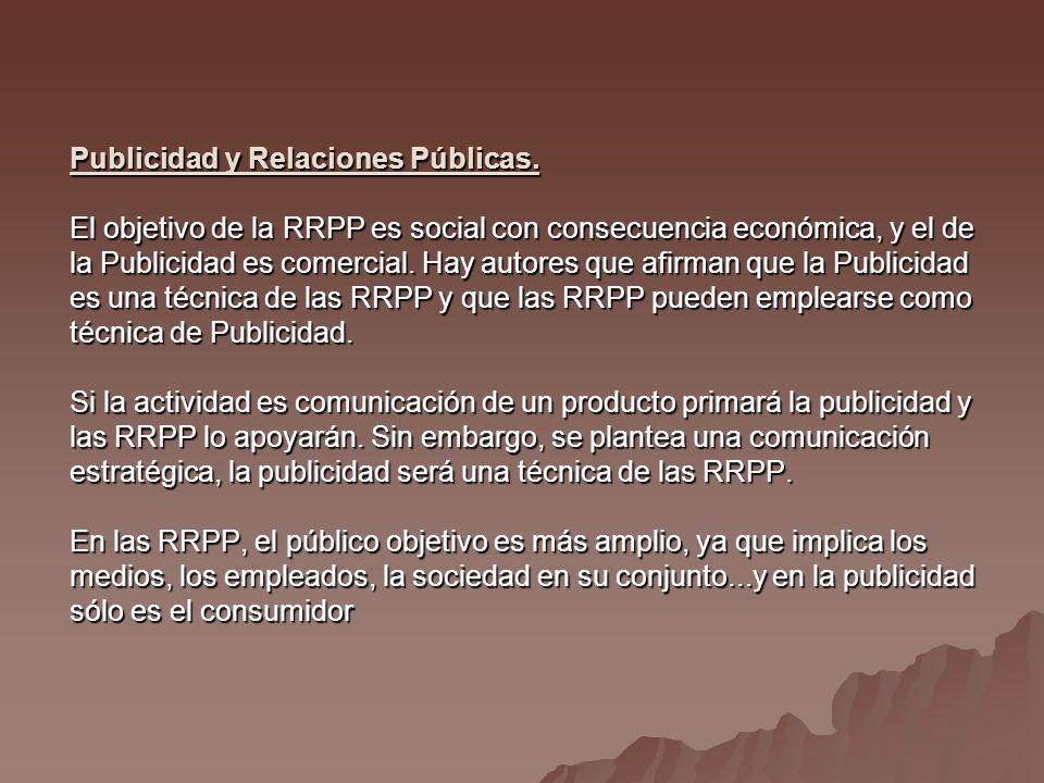 Publicidad y Relaciones Públicas.