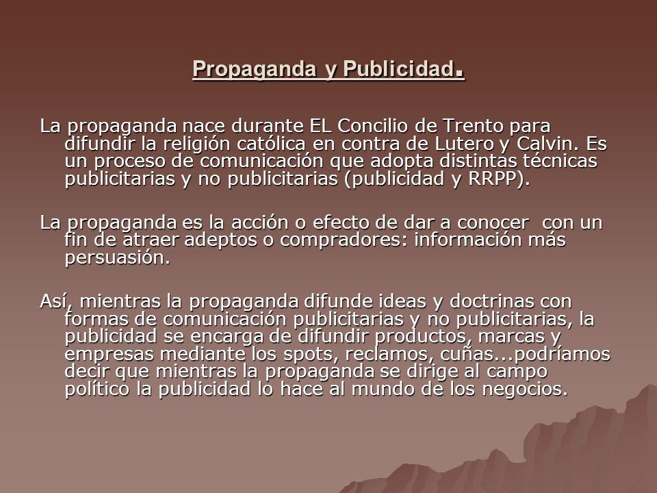 Propaganda y Publicidad.