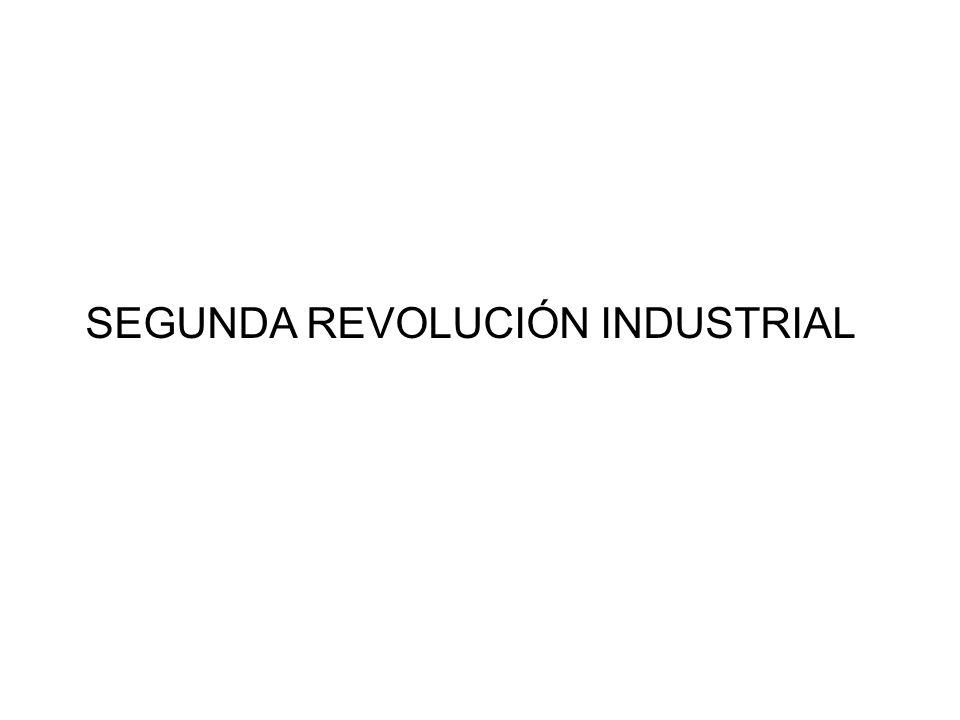 Segunda Revolución Industrial Sectores: Industria BélicaSector Energético Industria TextilIndustria Alimenticia Industria Químico y Farmacéutico Sector de Comunicaciones Industria de Transporte Industria Metalúrgica