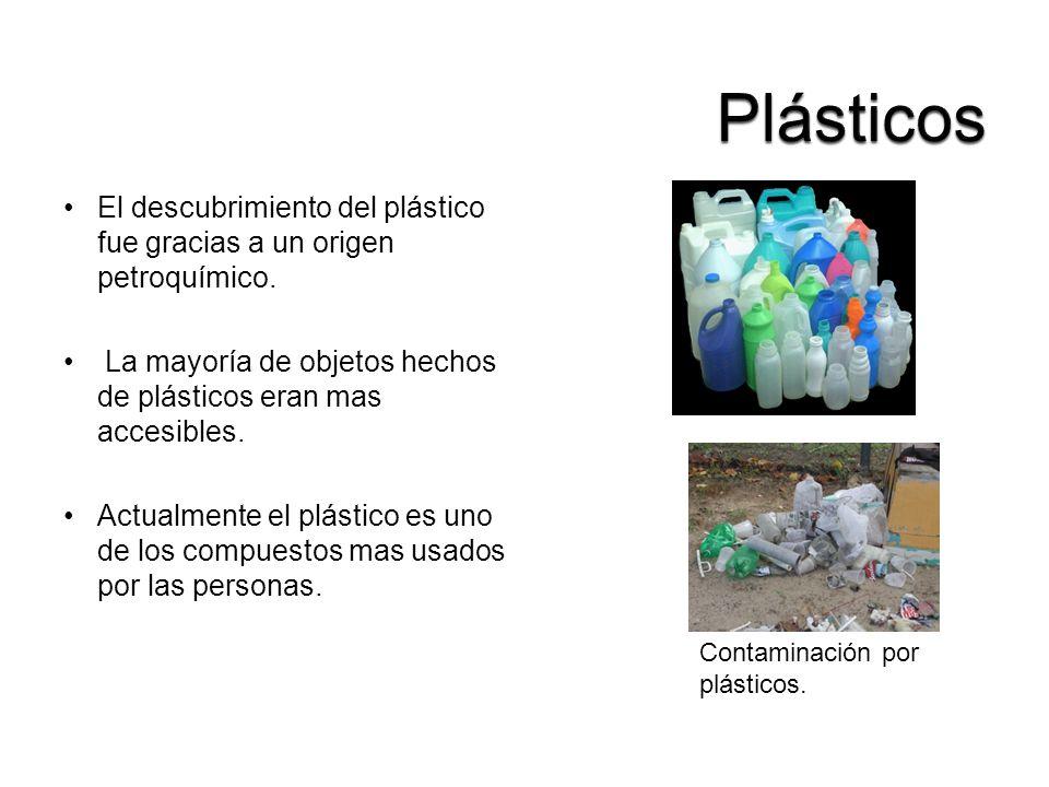 El descubrimiento del plástico fue gracias a un origen petroquímico. La mayoría de objetos hechos de plásticos eran mas accesibles. Actualmente el plá