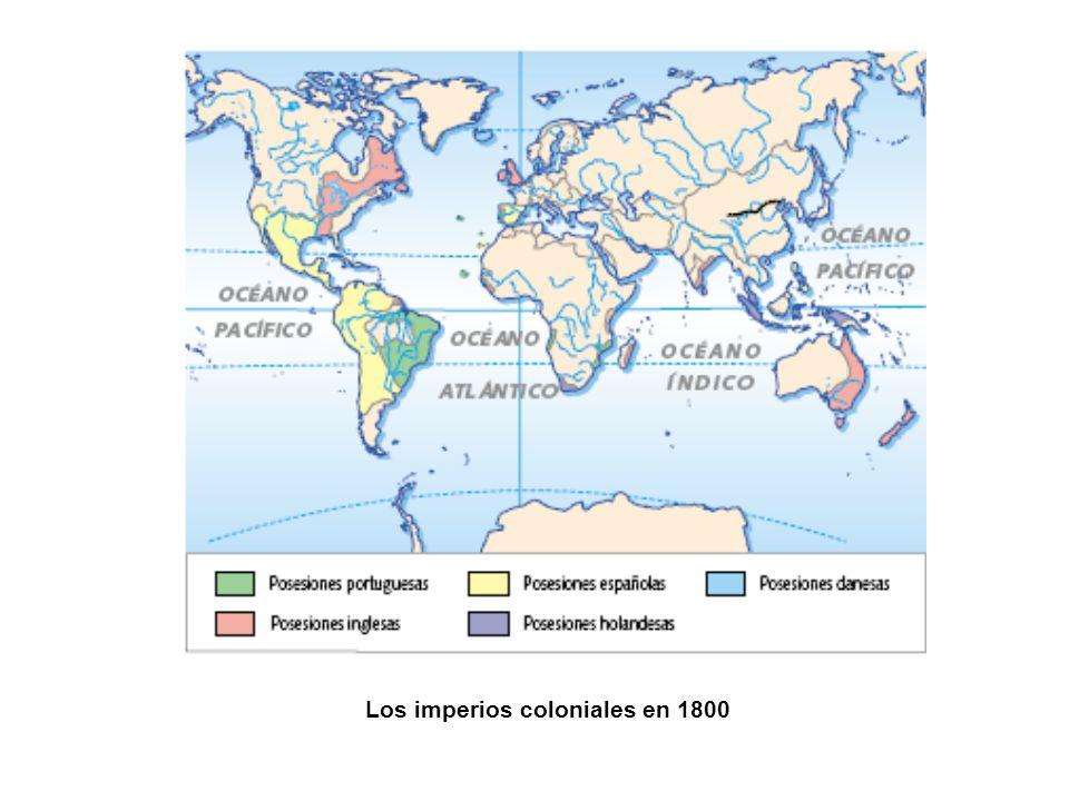 Los imperios coloniales en 1800