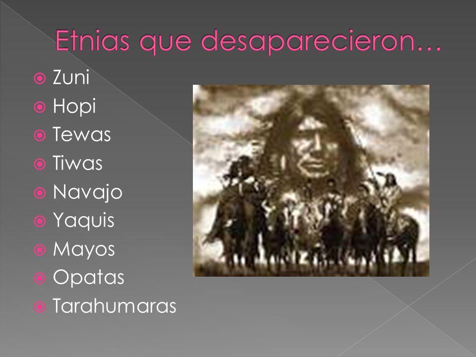 Zuni Hopi Tewas Tiwas Navajo Yaquis Mayos Opatas Tarahumaras