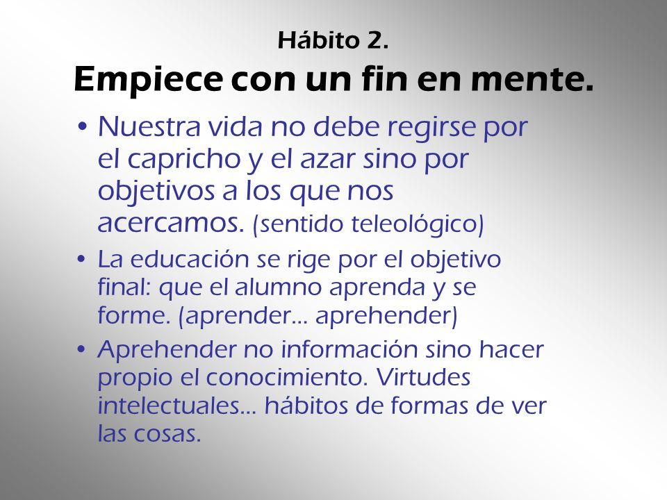Hábito 3.Establezca primero lo primero.