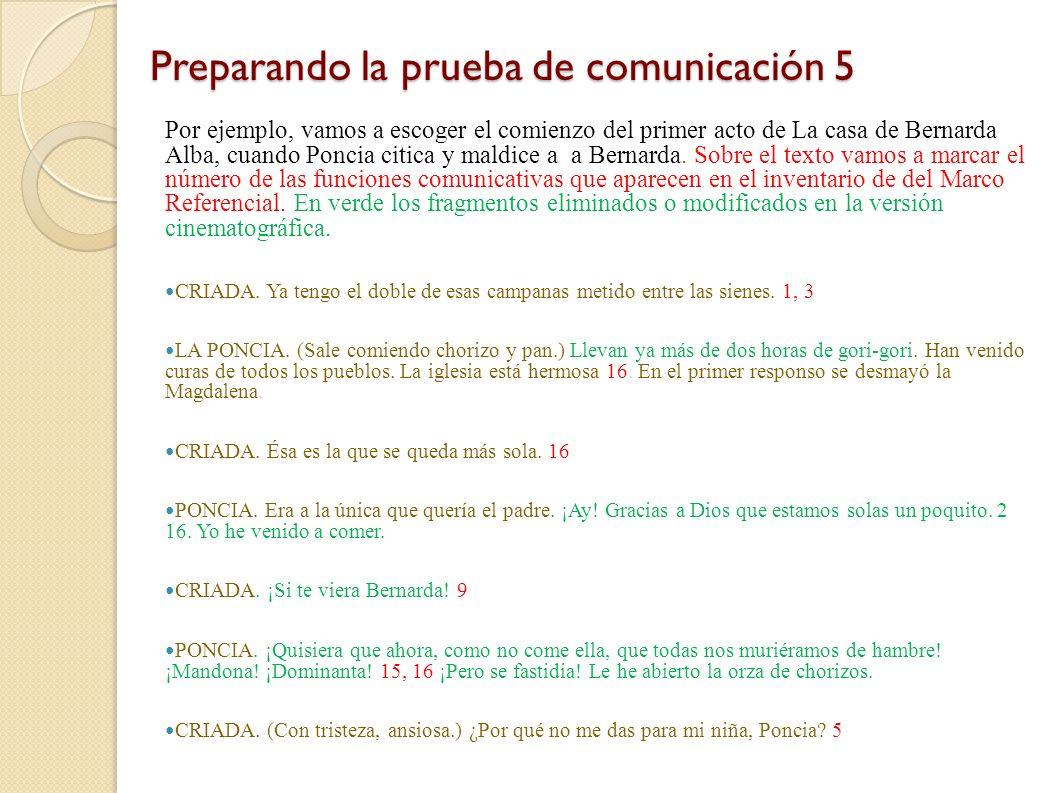 Preparando la prueba de comunicación 4 Pero estos tipos de texto que tendremos que primero exponer a los alumnos, luego imitar y representar y luego (