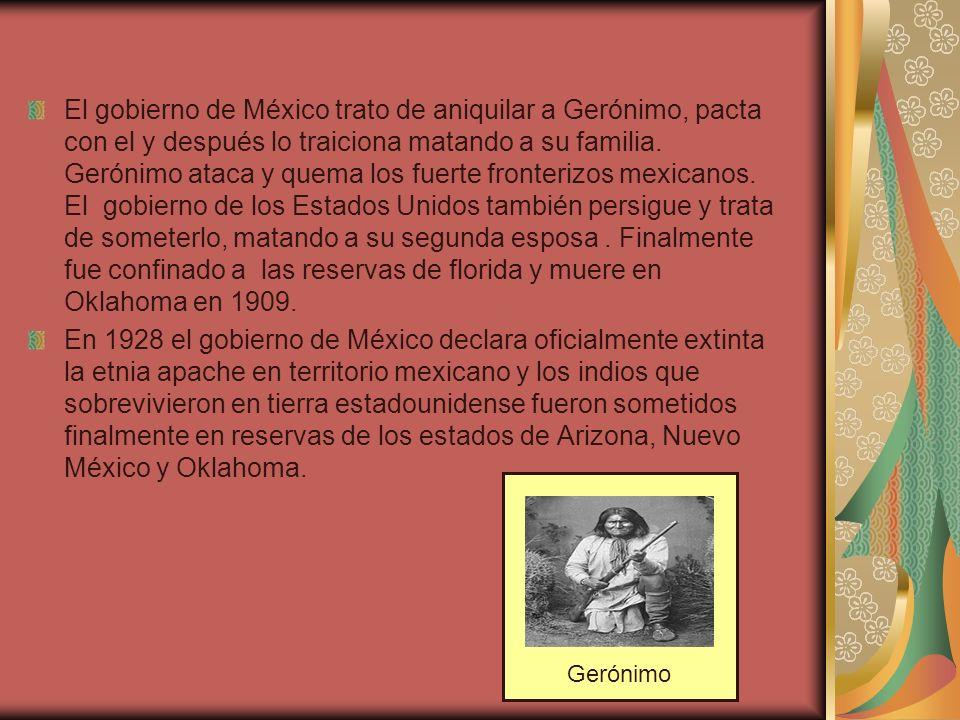 El gobierno de México trato de aniquilar a Gerónimo, pacta con el y después lo traiciona matando a su familia. Gerónimo ataca y quema los fuerte front