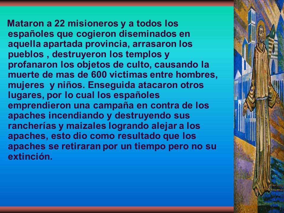 Mataron a 22 misioneros y a todos los españoles que cogieron diseminados en aquella apartada provincia, arrasaron los pueblos, destruyeron los templos