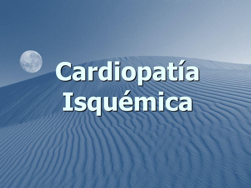 Alteración cardiaca secundaria a isquemia que se origina como consecuencia de enfermedad aterosclerótica arterial coronaria.