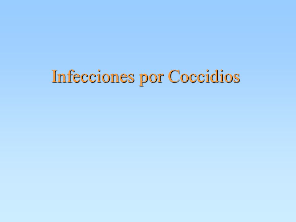 Coccidios Criptosporidiosis Criptosporidiosis Ciclosporosis Ciclosporosis Isosporosis Isosporosis